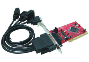 4-Port RS232 Low Profile PCI with 5V Output <br>PCI104