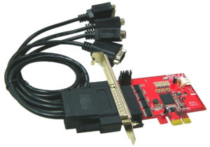 4-Port RS232 Low Profile PCIe with 5V <br>PE107