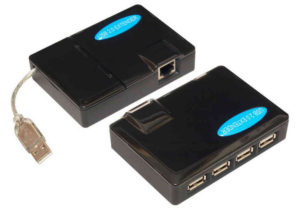 USB2.0 4-Port Hub Extender over Cat5 <br>UE234